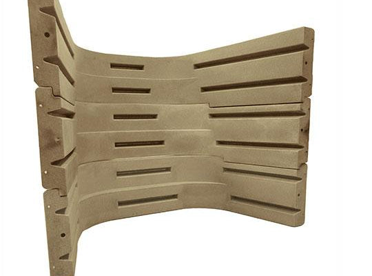 3 section terraced Plastic Wellcraft Egress Window for 5 foot wide window Sandstone Color