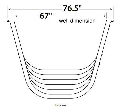 "Egress Window Well - Wellcraft 6700 - 76.5""W x 60""H x 56.5""D - Sandstone"