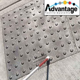 Cast Iron ADA Pads by Access Tile