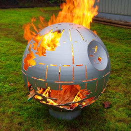 Death Star Fire Pit Silver Ceramic Coating