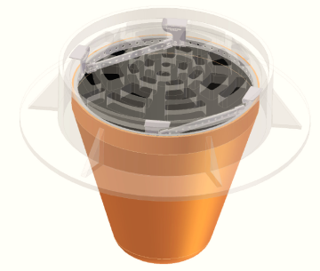 Schematic of a circular drain with Flexstorm Pure inlet filter