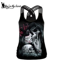 Load image into Gallery viewer, Gothic women's sling tank top