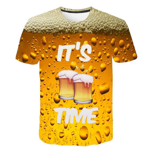 Beer short-sleeved 3D t-shirt