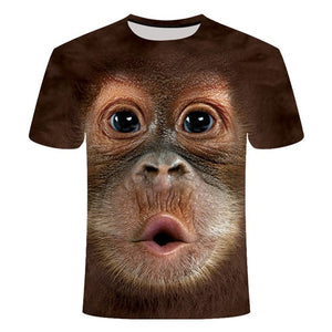 Tshirt dog monkey