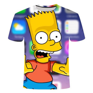 Simpson animation 3D printed T-shirts