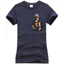 Load image into Gallery viewer, German Shepherd in pocket t-shirt Dog