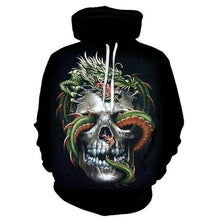Load image into Gallery viewer, Women hoodies skull 3D