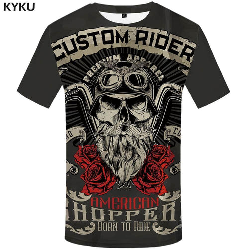 Motorcycle T Shirt Punk T-shirt Knight Shirts