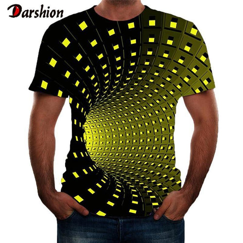 Men 3D Print T-Shirts Fashion Short Sleeve