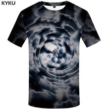 Load image into Gallery viewer, Skull T Shirt Men Black Tshirt Funny Punk Rock