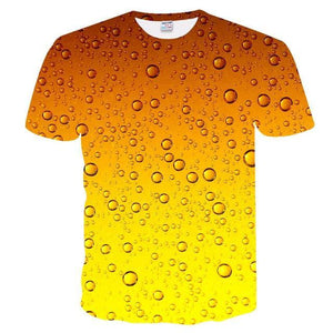 3D T shirt Men's Casual Tee shirts Funny Beer