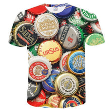 Load image into Gallery viewer, 3D T shirt Men's Casual Tee shirts Funny Beer