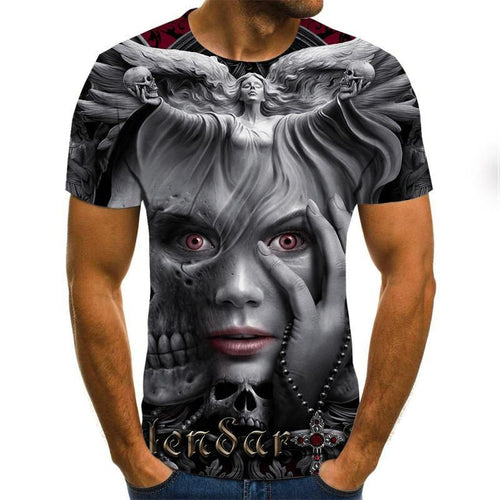 Mens horror T shirts Fashion New Summer