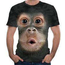 Load image into Gallery viewer, Men's T-shirts 3d Printed Animal Monkey