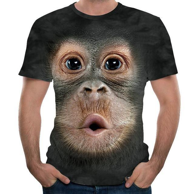 Men's T-shirts 3d Printed Animal Monkey