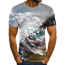 Load image into Gallery viewer, Vertigo 3D round neck male T-shirt tunnel 3D printed male T-shirt street style