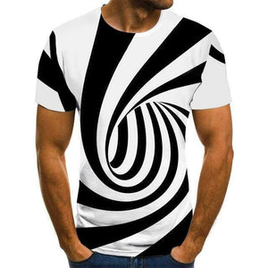 Colorful 3D Printing Short Sleeve Men's T-Shirt