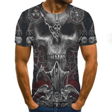 Load image into Gallery viewer, Men clothes Summer Skull Print Men Short Sleeve