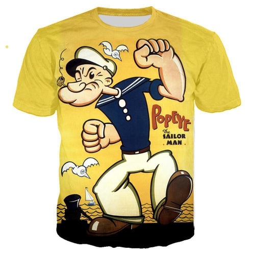 Popeye T Shirt 3D Print Men/women Summer Streetwear