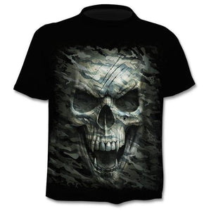3D printed T-shirt men's women's tshirt punk style
