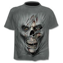 Load image into Gallery viewer, 3D printed T-shirt men's women's tshirt punk style