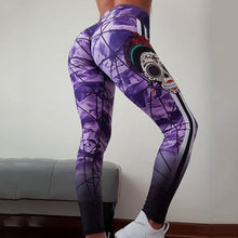 Load image into Gallery viewer, Skull fitness leggings