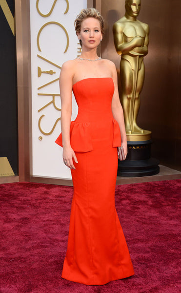Jennifer Lawrence 2014 Oscars Red Carpet