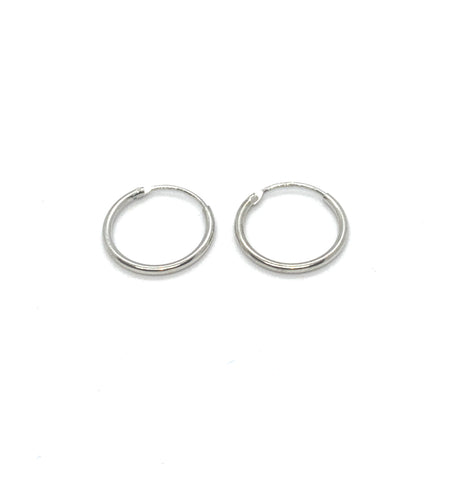 12mm SLEEPER HOOP EARRINGS