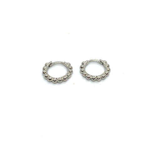 10mm BAUBLE HUGGIE  HOOP EARRINGS