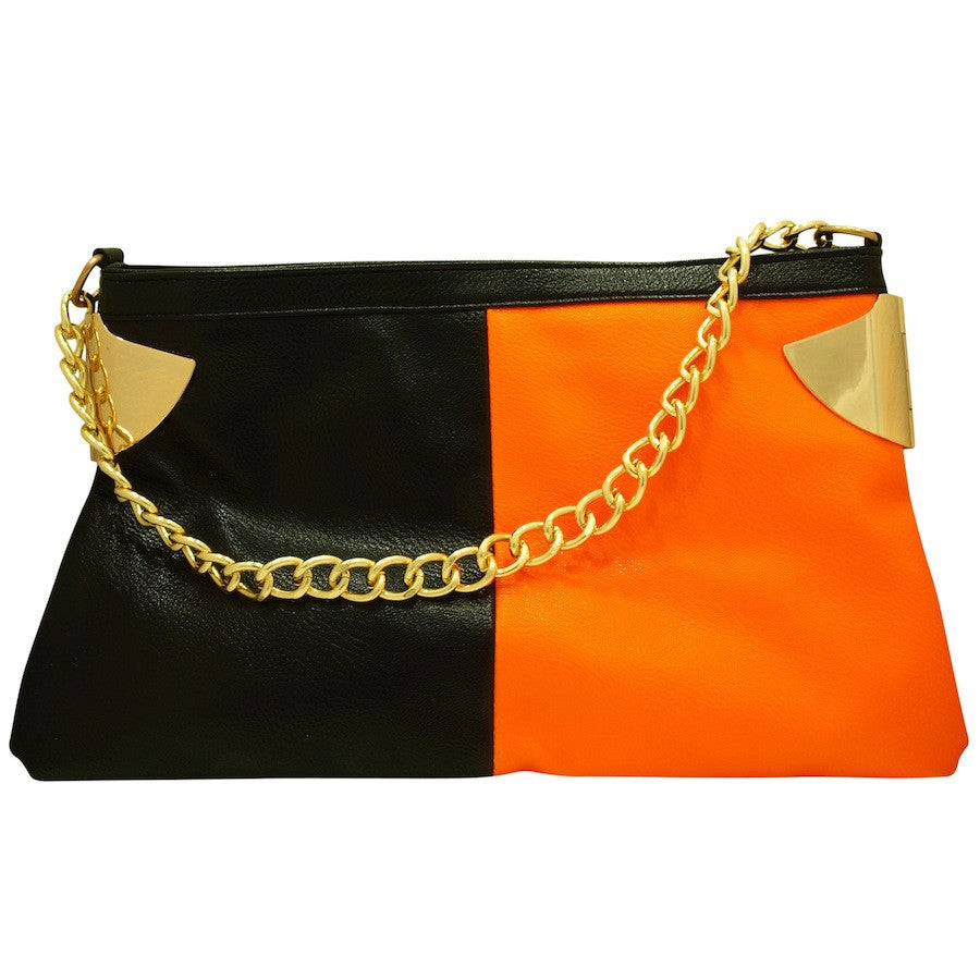 Fashion_Handbag_Black_Orange_Clutch_First_Sin