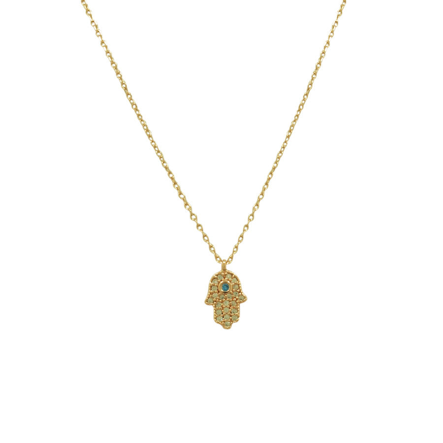 TEENY TINY HAMSA NECKLACE