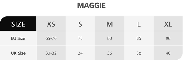 Maggie Size Chart