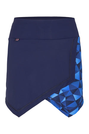 Blue skort with inner tights.