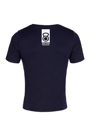 vain dane athletic ask t-shirt for men. Dark blue with vain dane and kettle bell logo