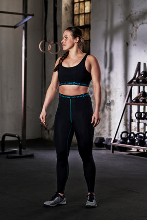 vain dane athletic running leggings made with ECONYL® yarn
