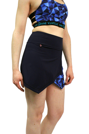 Blue skort with inner tights. Good for training, martial arts and hiking
