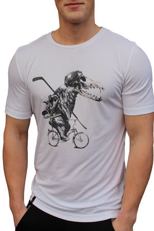 vain dane athletic tencel T-shirt in white.