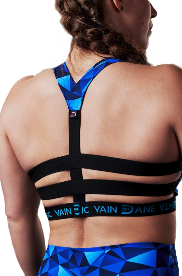 vain dane athletic's freja bra seen from behind
