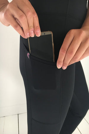 SIGRID Womens Leggings with Mobile Pocket