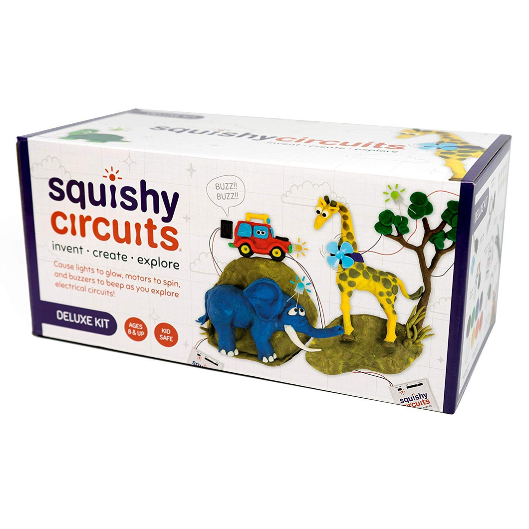 Squishy Circuits Deluxe Kit: use conductive and insulating pay dough
