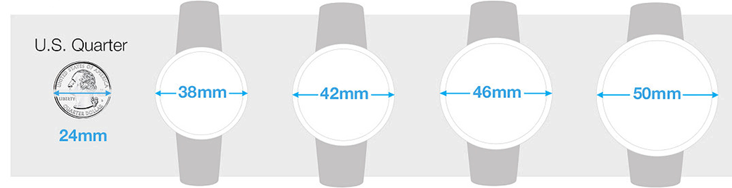 mens watch size guide