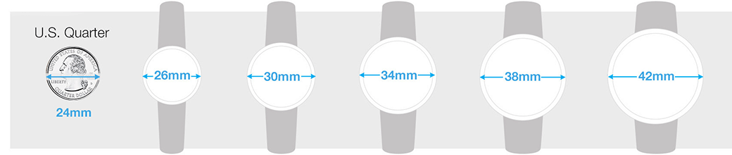 womens watch size guide