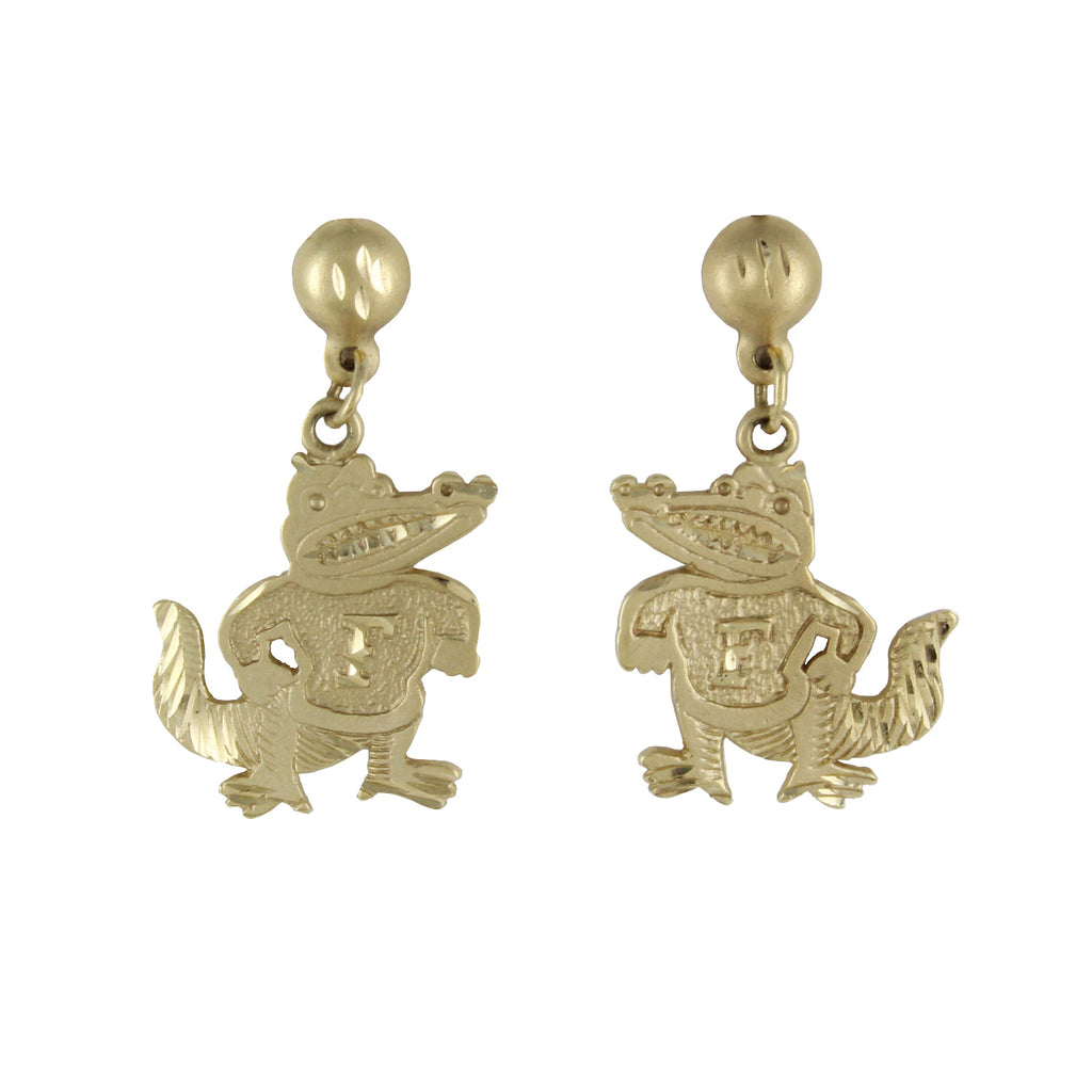 GOLD GATOR EARRINGS
