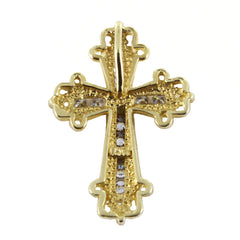 14KT DIAMOND CROSS