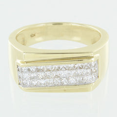 LADIES 14 KT CLUSTER DIAMOND RING SIZE 10