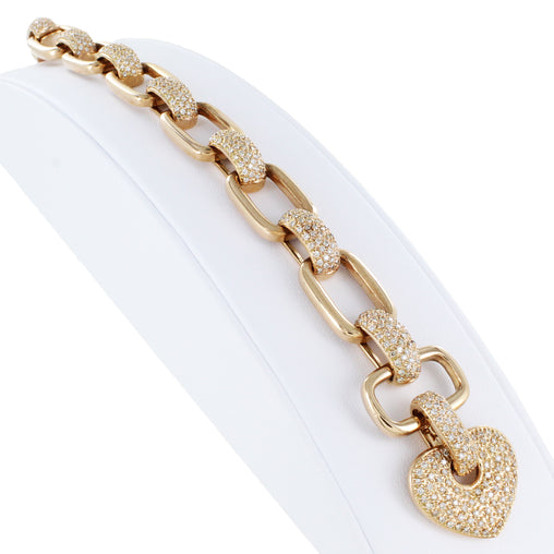 14 KT ROSE GOLD DIAMOND BRACELET