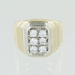 14KT CLUSTER DIAMOND RING SIZE 5.5