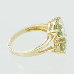 LADIES 14KT COLORED STONE RING SIZE 5