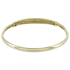 LADIES 14KT GOLD DIAMOND BANGLE