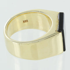 LADIES 14KT GOLD BLACK ONYX RING SIZE 5.5